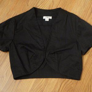 Black Short Sleeved Shrug